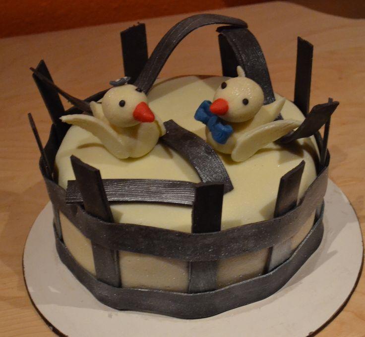 #birdcake #brokencagecake #girlboybirdcake