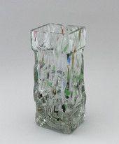 Heavy art glass vase, Fantasia. Year, 1969-73. Design, Henrik Koivula, Humppila glass. | Shopping Place for Friends of Old Antique Dishware - Dishwareheaven.com