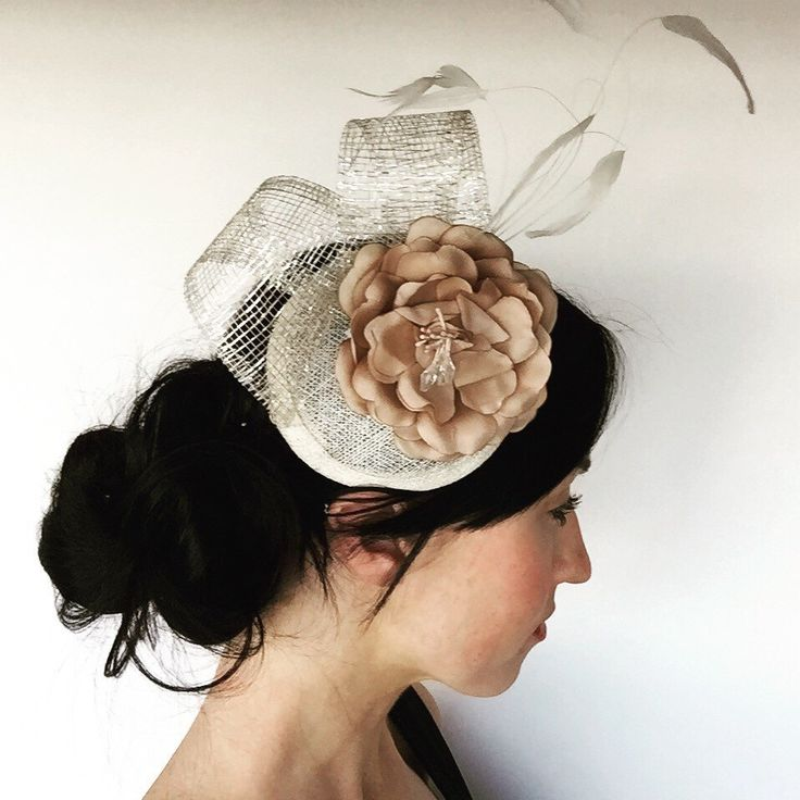 A personal favourite from my Etsy shop https://www.etsy.com/au/listing/251111624/champagne-coloured-floral-fascinator