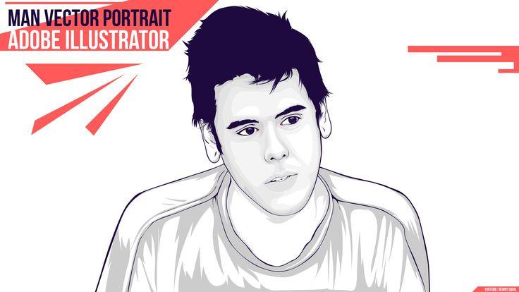 Man Portrait Vector Adobe Illustrator