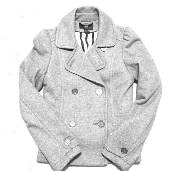 Women's Peacoat Grey short peacoat with four buttons in the front, very cute and warm, worn only once H&M Jackets & Coats Pea Coats