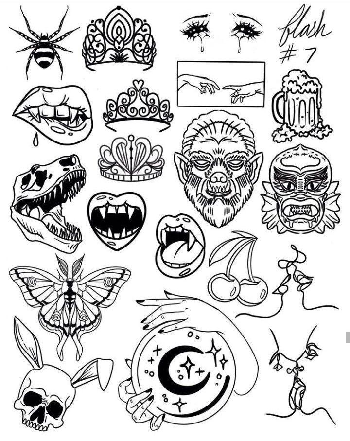 Tattoo Of Old School Designs Tattoo Flash Inspirations