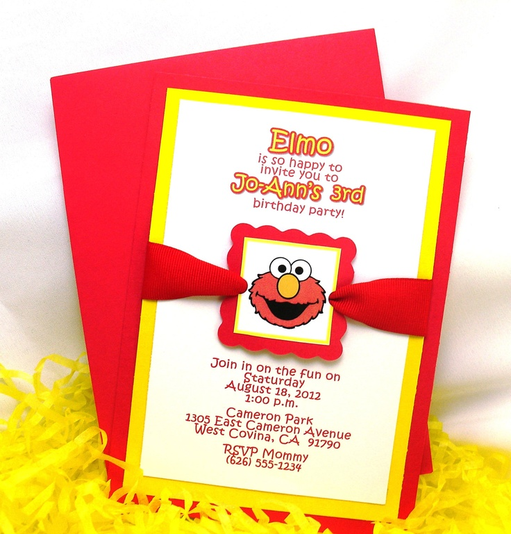 handmadest birthday party invitations%0A elmo invite