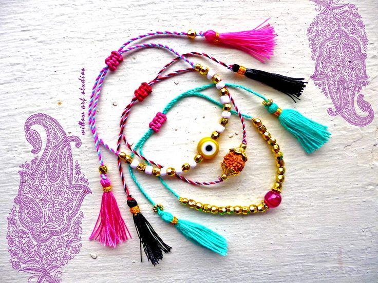 Spiritual arm candy bracelets.