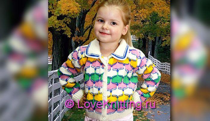 Разноцветный жакет   Loveknitting.ru