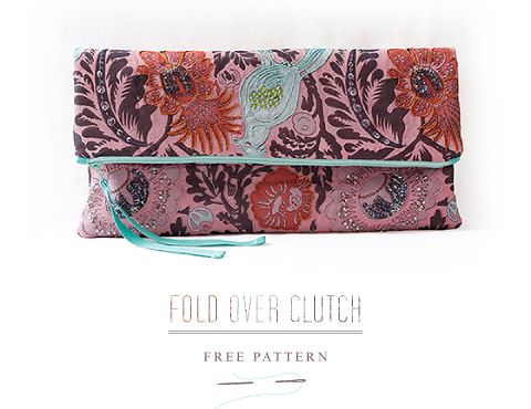 Fold-over Clutch - Free Pattern - Pattern Runway