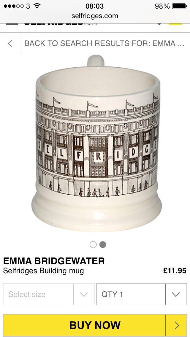 Emma Bridgewater selfridges mug