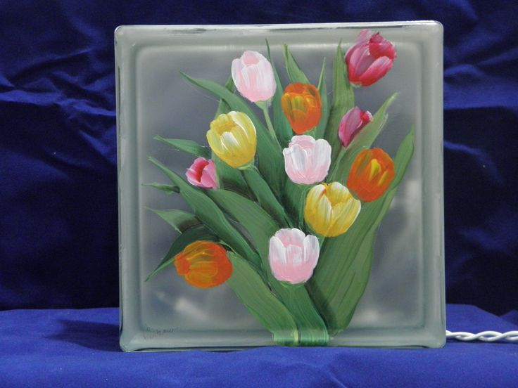 Glass Block Light-Tullip Bouquet. $34.00, via Etsy.