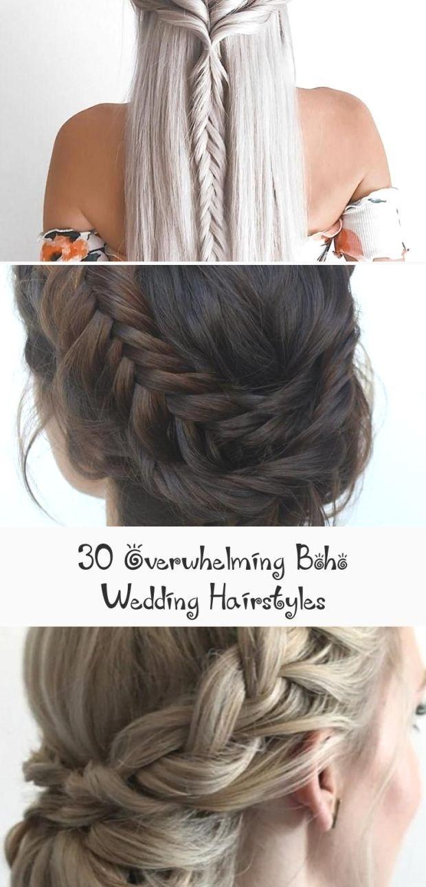 30 Overwhelming Boho Wedding Hairstyles My Stylish Zoo Hairtype Men Women Faceshapes Hairtips Hai Boho Wedding Hair Hair Styles Wedding Hairstyles Photos