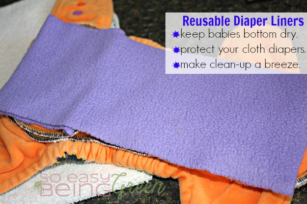 Cloth Diapering on a Budget: DIY Reusable Diaper Liners
