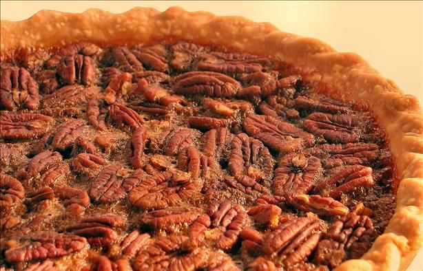 Dear Abby's Famous Pecan Pie.  Mine usually needs to bake longer.  Otherwise the perfect Pecan Pie