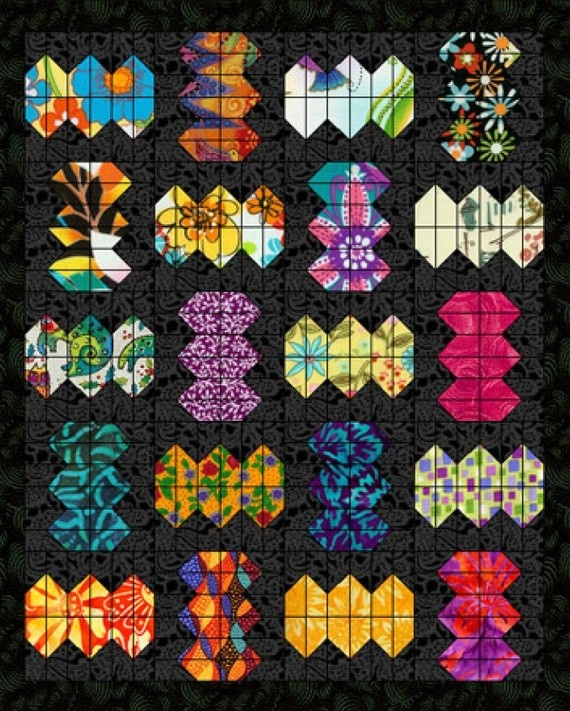 PDF Pattern Dance of the Japanese Lanterns Quilt by