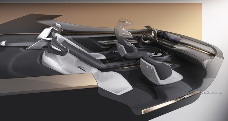 Chery Tiggo Coupe Concept Interior 2017 on Behance