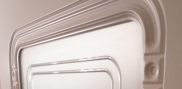 Białe zdobione drzwi Moric :)
