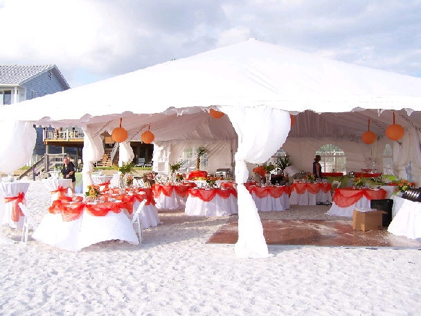 Wedding Reception At A Private Beach House 30x40 Tent
