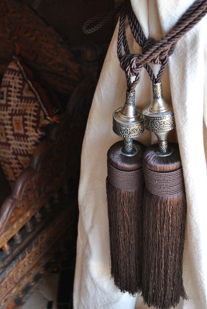 Handmade Moroccan (cactus) silk curtain ties | Beyond Marrakech online boutique