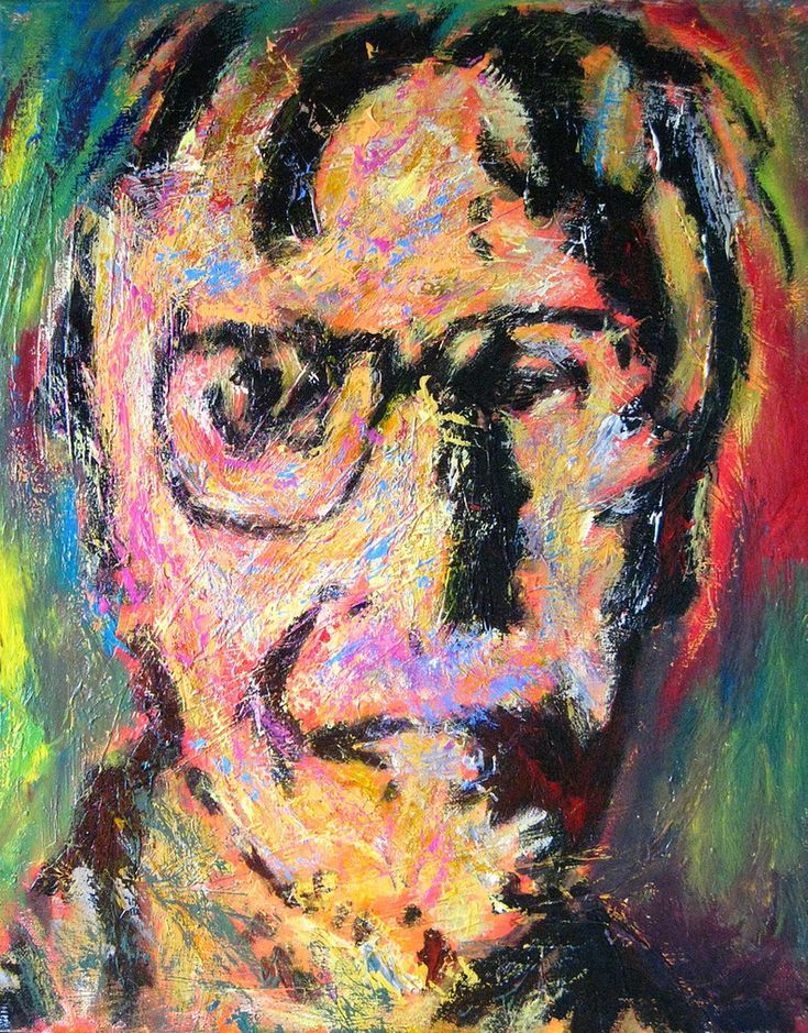 """The artist fills space with an attitude. The attitude never comes from himself alone."" ~Willem de Kooning. Selfportrait by Willem de Kooning (1904-1997)"