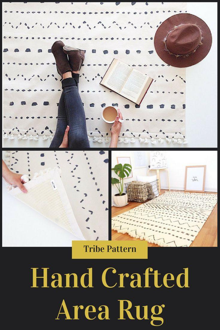White area rug,floor rugs,carpet,home decor,minimalist rug,black and white rug,white rug,rugs
