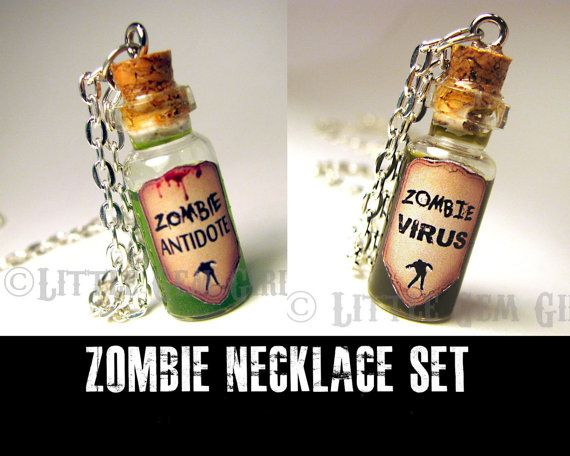 Hey, I found this really awesome Etsy listing at http://www.etsy.com/listing/151193514/zombie-friendship-necklace-set-zombie