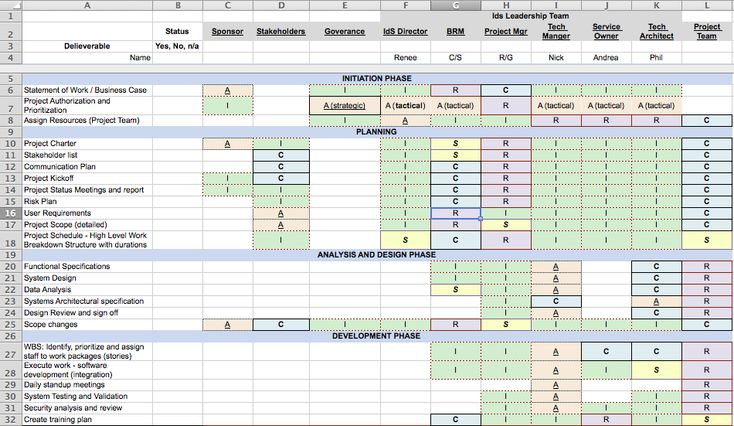 Ids Project Management Checklist With Rasci  Identity Services