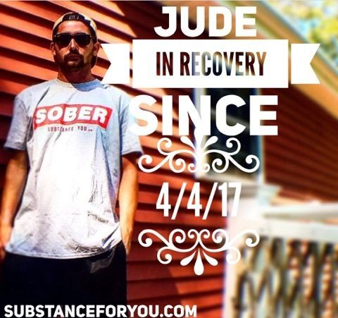 Looking hip in that sober shirt is our buddy Jude @jude_screnci (IG) who's loving his newfound life of freedom is recovery! We talk and when we do you can see that he's all about THIS life of betterment not THAT life (if you know what I mean) as we all love to glamorize recovery here!!!! Go get em buddy wear that loud and proud! And oh I know you got more send me some more pics let's be proud of you cuz I am!   For a SOBER tee like Jude is wearing click the link in our bio to redirect to our…