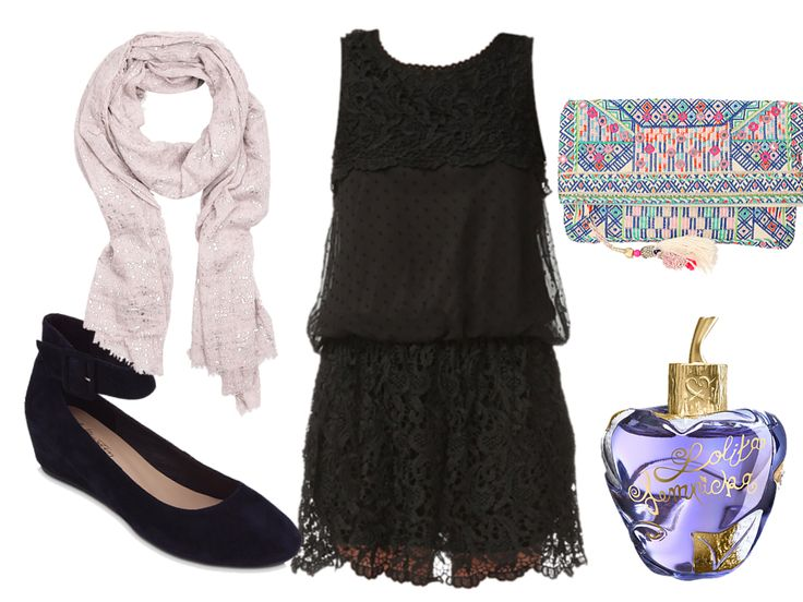 Black lace dress by stylisteatoutprix