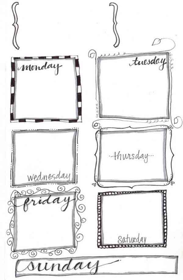 Doodle weekly planner - Click through to see 13 Fabulous and Totally Free Planner Printables
