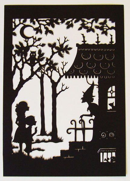 """Hansel and Gretel"" papercut art by Isabella Baudelaire"