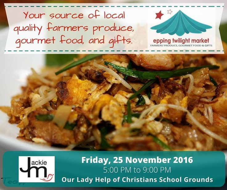 Come along this Friday for some Christmas shopping at the annual Epping Christmas Markets. I'll be there selling Char Kway Teow AND Otak-Otak between 5-9pm and I'll have a limited number of Jackie M recipe cards to give away.  See you there :) #jackiemlife #markets