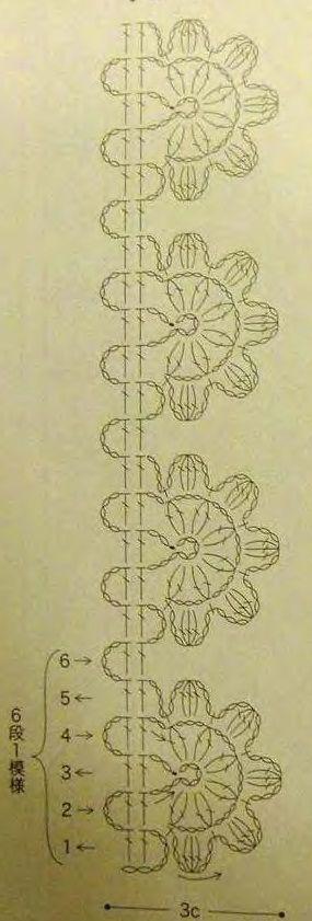 Collare crochet lungo