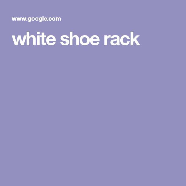 white shoe rack