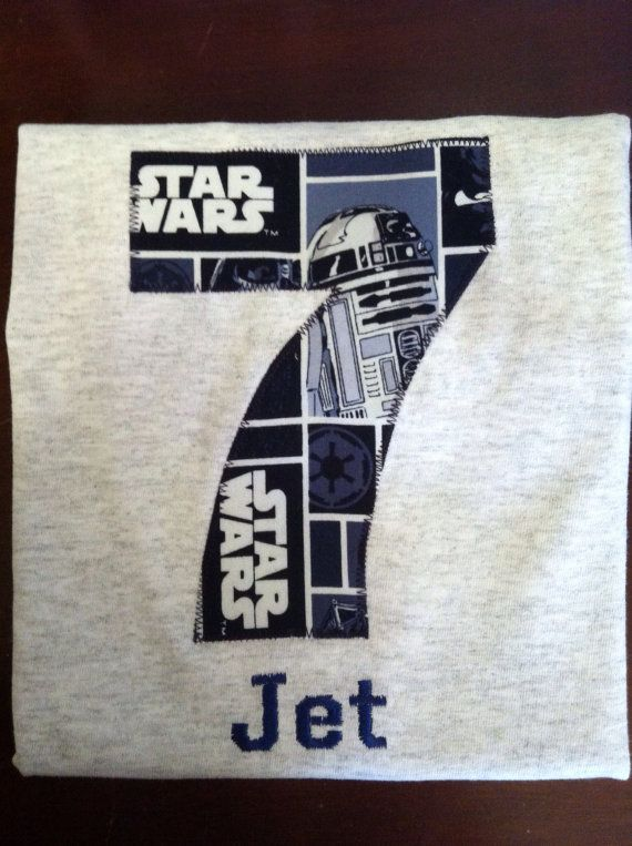 Star Wars Birthday Shirt Kids Appliqu 233 D By Bugabooscloset