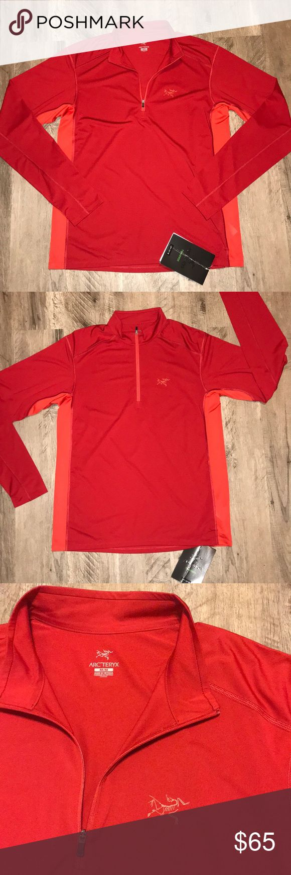 Arc'teryx l/s (Retail $85) Arc'teryx l/s☄️Diablo red☄️ether zip neck☄️Quick drying,odor resistant, good moisture management, and high thermal efficiency☄️Comfort ease and simplicity for hiking and trekking☄️tag has s crease in it Arc'teryx Shirts Tees - Long Sleeve