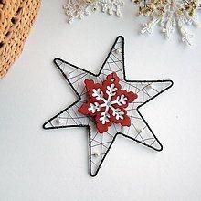 Dekorácie - vianočná hviezda - 7159059_