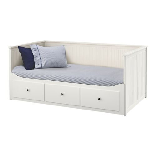 HEMNES Daybed frame with 3 drawers IKEA Four functions - sofa, single bed, double bed and storage solution.