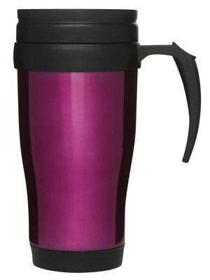 Bilkopp, rosaRustfritt stål, plastikk lokk m drikkeåpning. Størrelse: 50 cl Emballasje: Giftbox