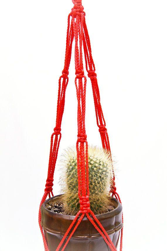 Simple Macrame ~ Cactus Planter ~ Hanging Planter ~ Small
