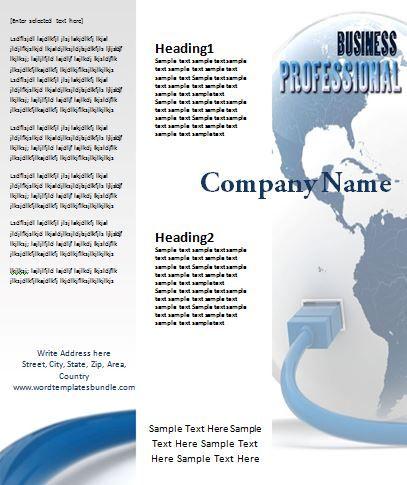Tri-Fold Brochure Templates Templates Pinterest Tri fold - brochure word templates
