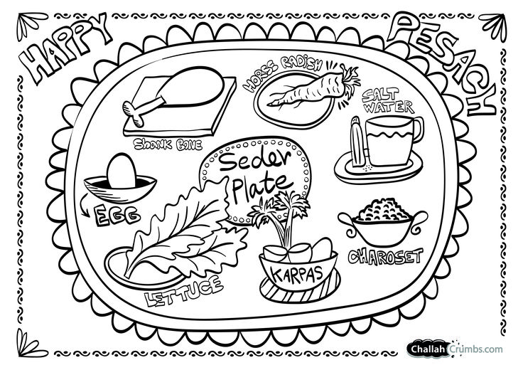 Decisive image with children's passover seder printable