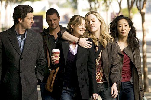 greys anatomy . . season 5 . . derek . alex . meredith . sadie . christina . . .