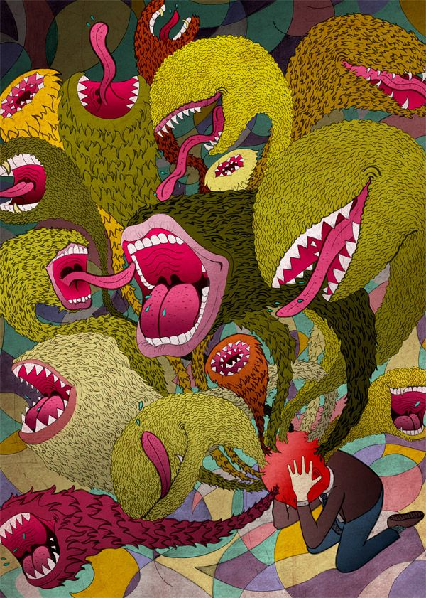 Mouthy | © 2011 Jessica Fortner.: Surrealist Artists, Fortner Illustrations, Headache Design, Fortner Art, Jessica Fortner, Mouthi Illustrations, Fortner Toronto, Features Designersartist, Cartoon Illustrations