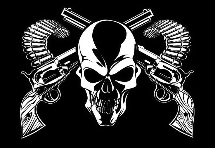 Skulls And Guns Tattoos: Skull & Guns