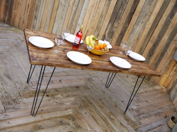 Reclaimed wood handmade dining table. Industrial by TheWoodForgeCo
