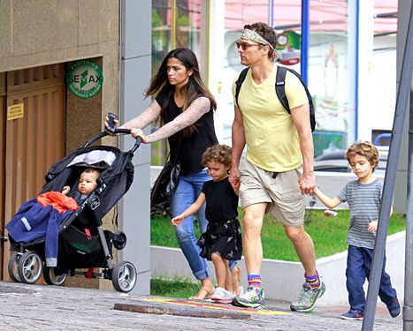 Matthew McConaughey and wife Camila Alves step out with their kids in Brazil on Dec. 21.