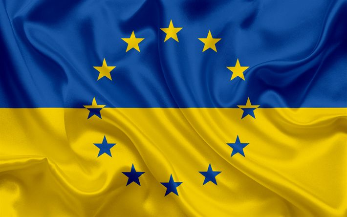Download wallpapers Ukraine, Europe, Ukrainian flag, flag of Ukraine