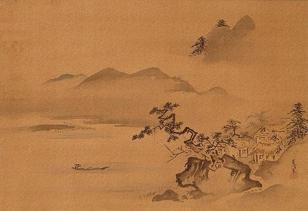 Landscape, (late 17th century-18th century) by Kanô Chikanobu :: The Collection :: Art Gallery NSW