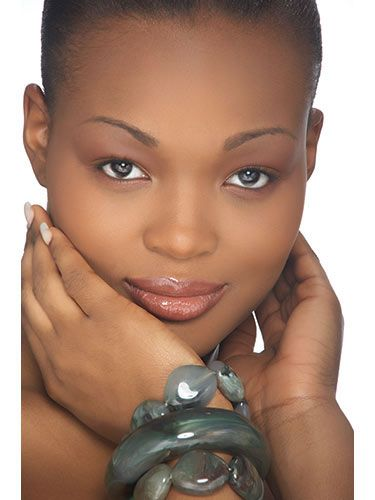 Secrets to Beautiful African American Skin - Loving her make up!   Try this using our light weight foundations. http://www.sachacosmetics.com/face-makeup