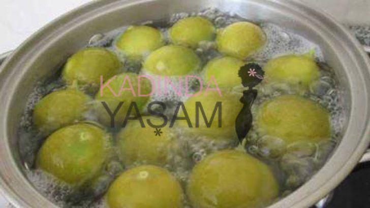 kilo verdiren Haşlanmış limon
