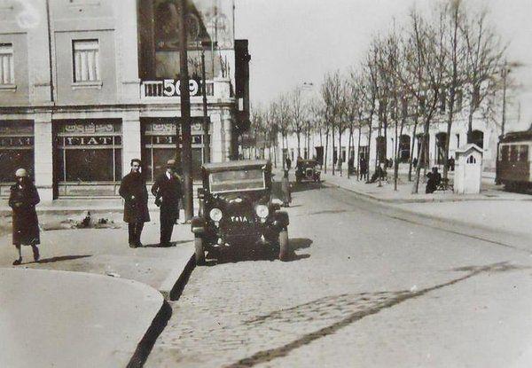 Elmadağ (1926) Sağ taraf Surp Agop Mezarlığı - Sol Taraf Dolapdere'ye inen Yedi Kuyular Caddesi.