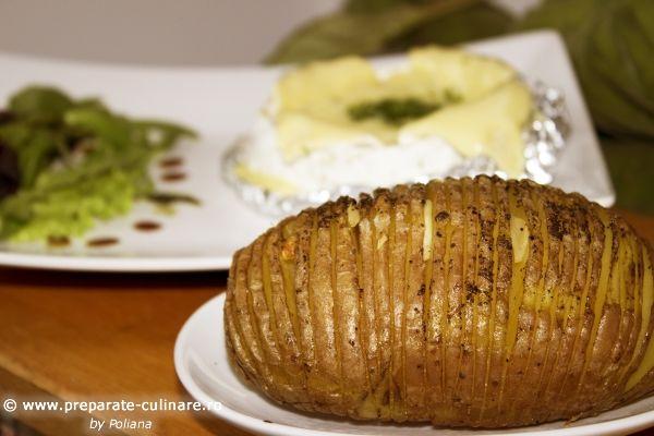 cartofi Hasselback la cuptor